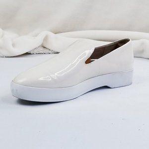 Donna Karan New York Ivory Patent Leather Platform